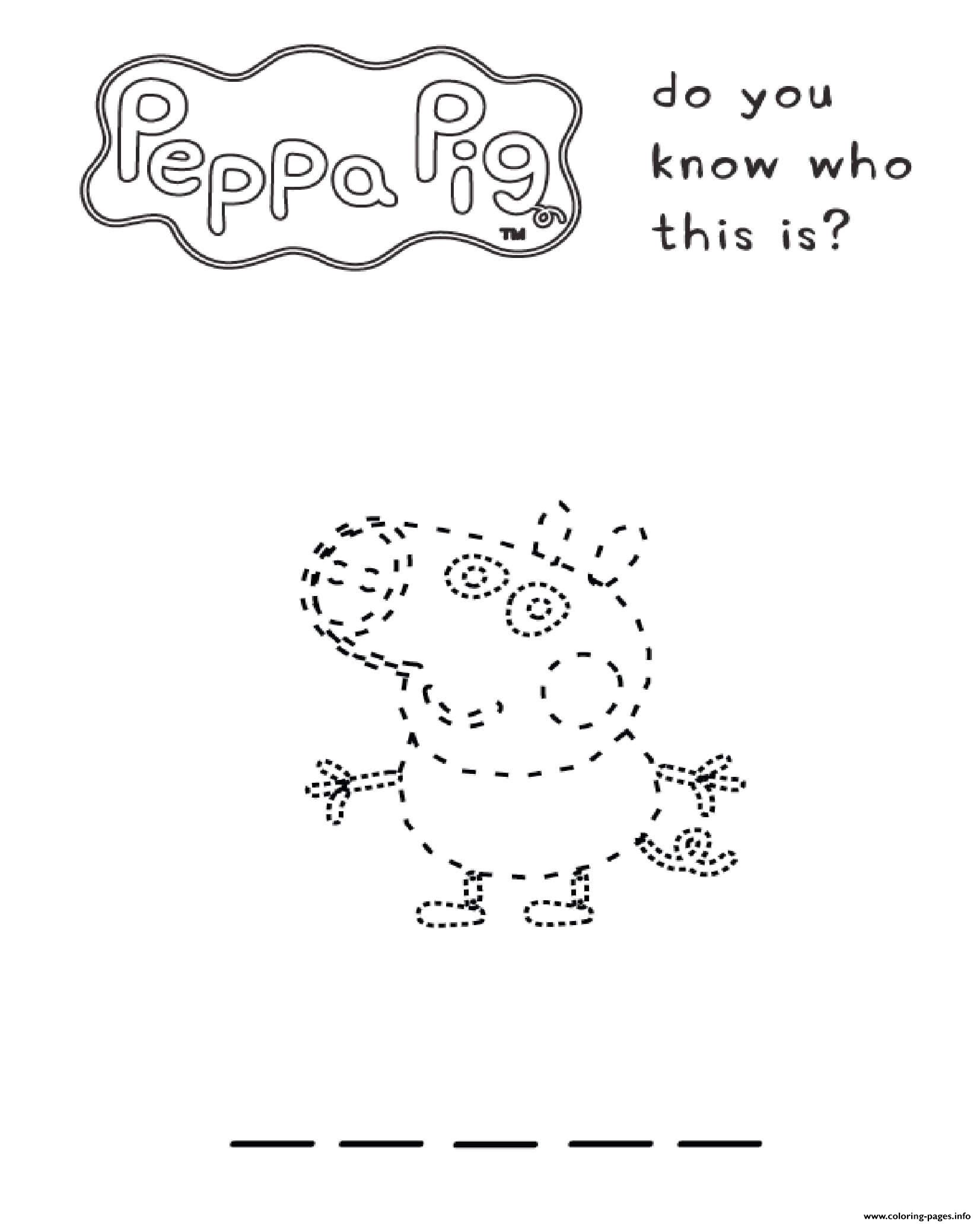 Peppa Pig Do You Know This Is coloring pages