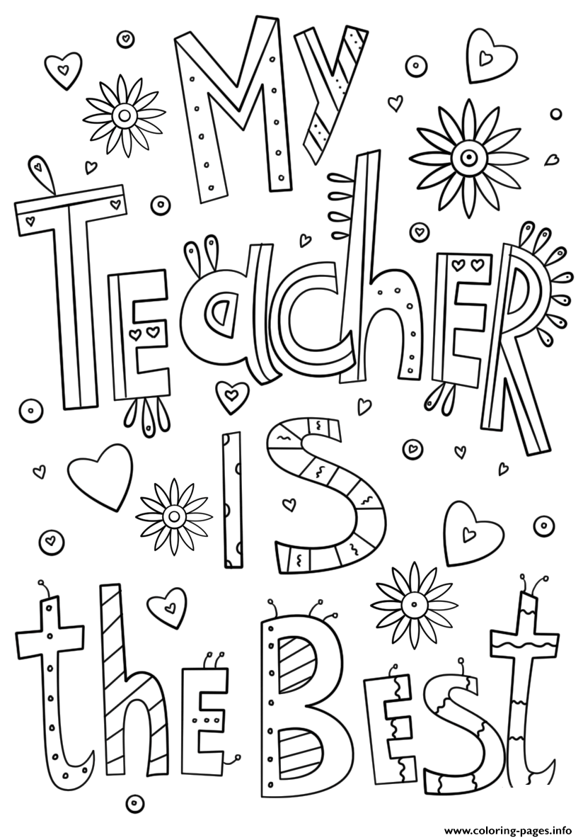 Teachers Thank You Teacher Certificate Coloring Pages Printable