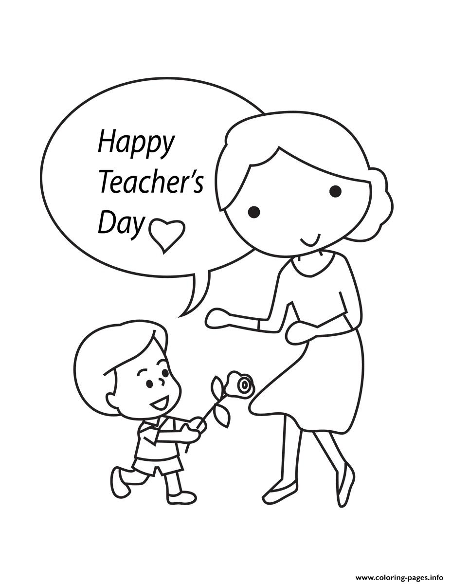 Happy Teachers Day National Teacher Day Coloring Pages