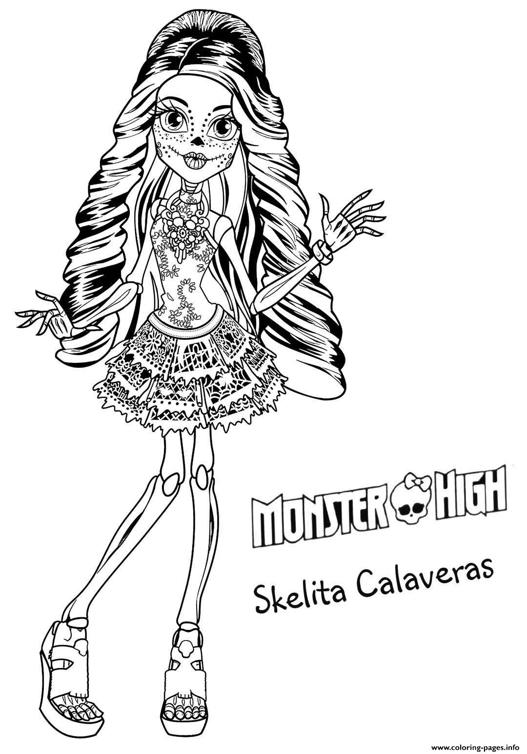 Halloween Monster High Coloring Pages Printable