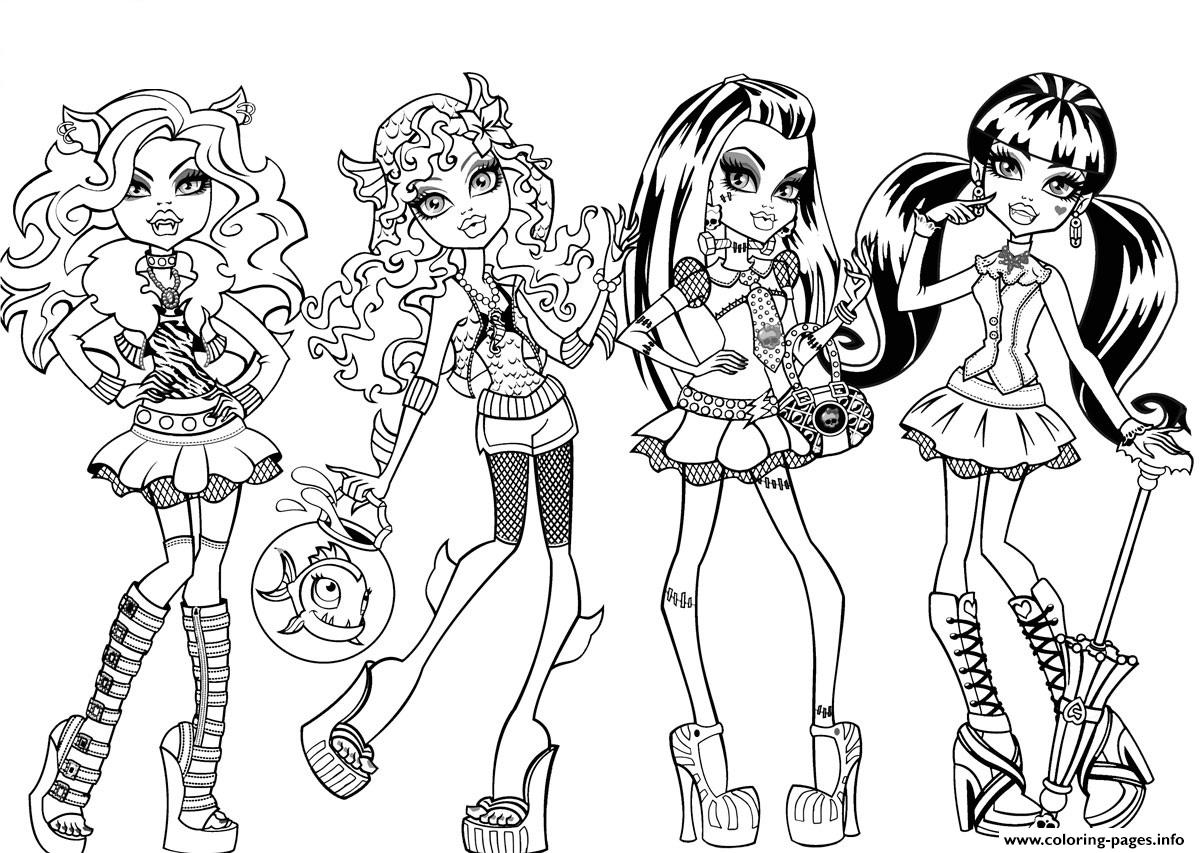 Monster High Characters coloring pages
