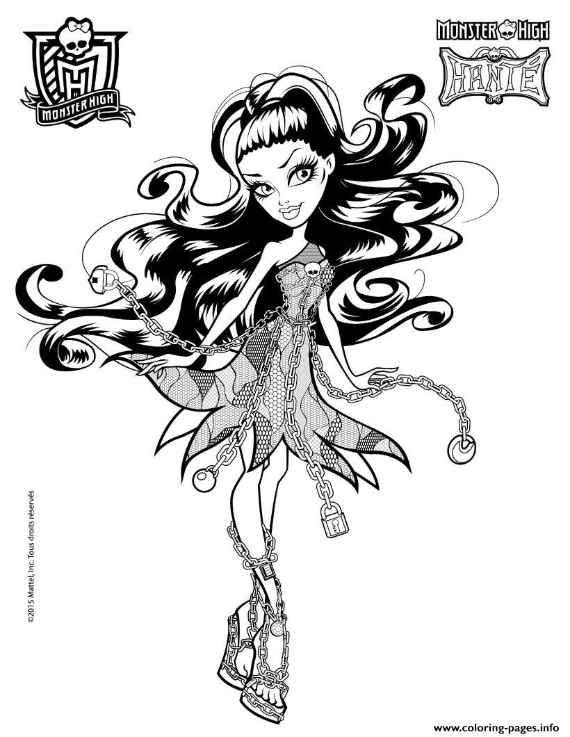 Spectra Vondergeist Monster High Coloring Pages Printable