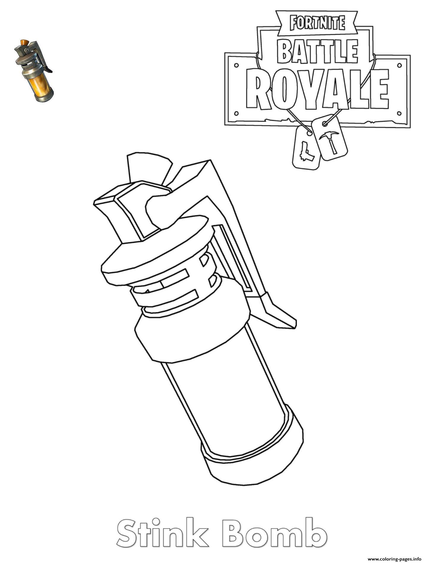 Stink Bomb Fortnite Item Coloring Pages Printable