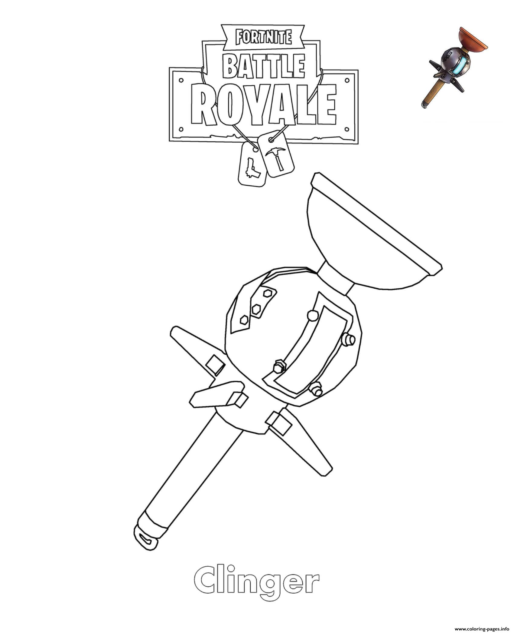 Clinger Fortnite coloring pages