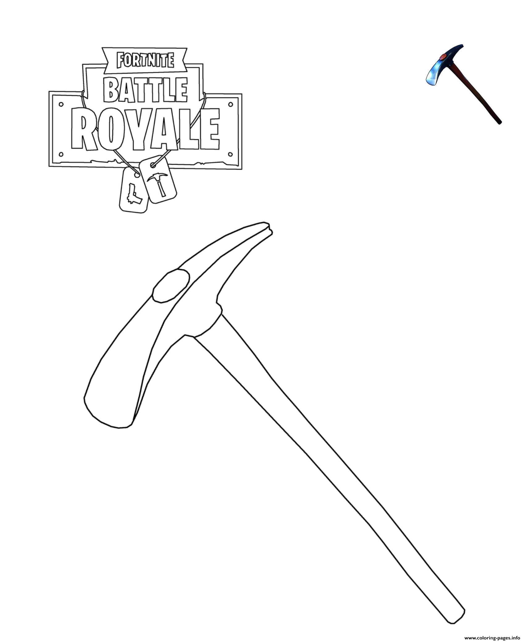 Default Pickaxe Fortnite Coloring