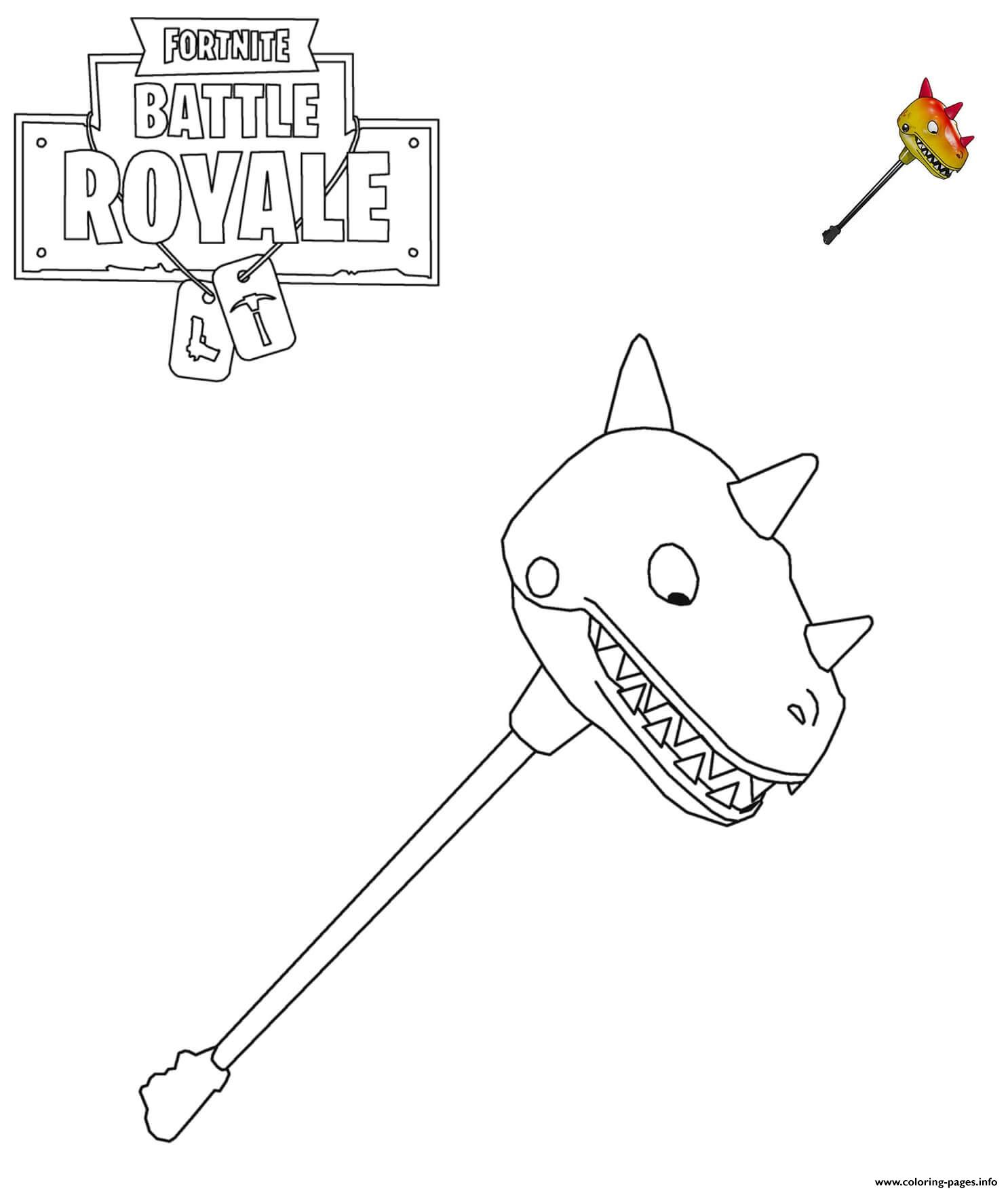 Bitemark Fortnite Item Coloring Pages Printable