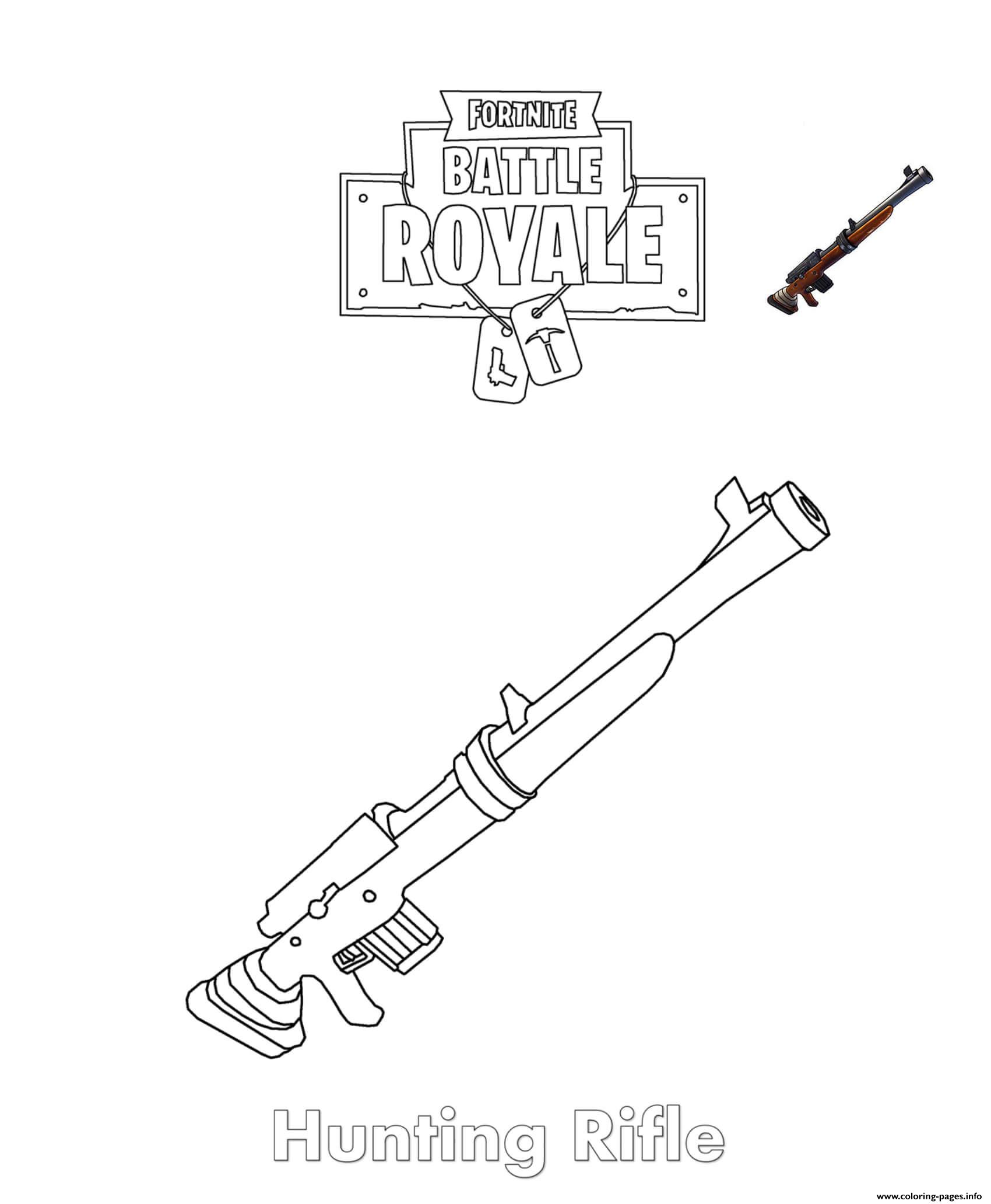 Hunting Rifle Fortnite coloring pages