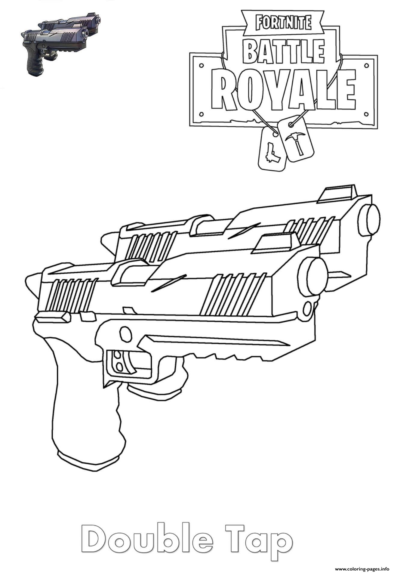Double Tap Fortnite Coloring Pages