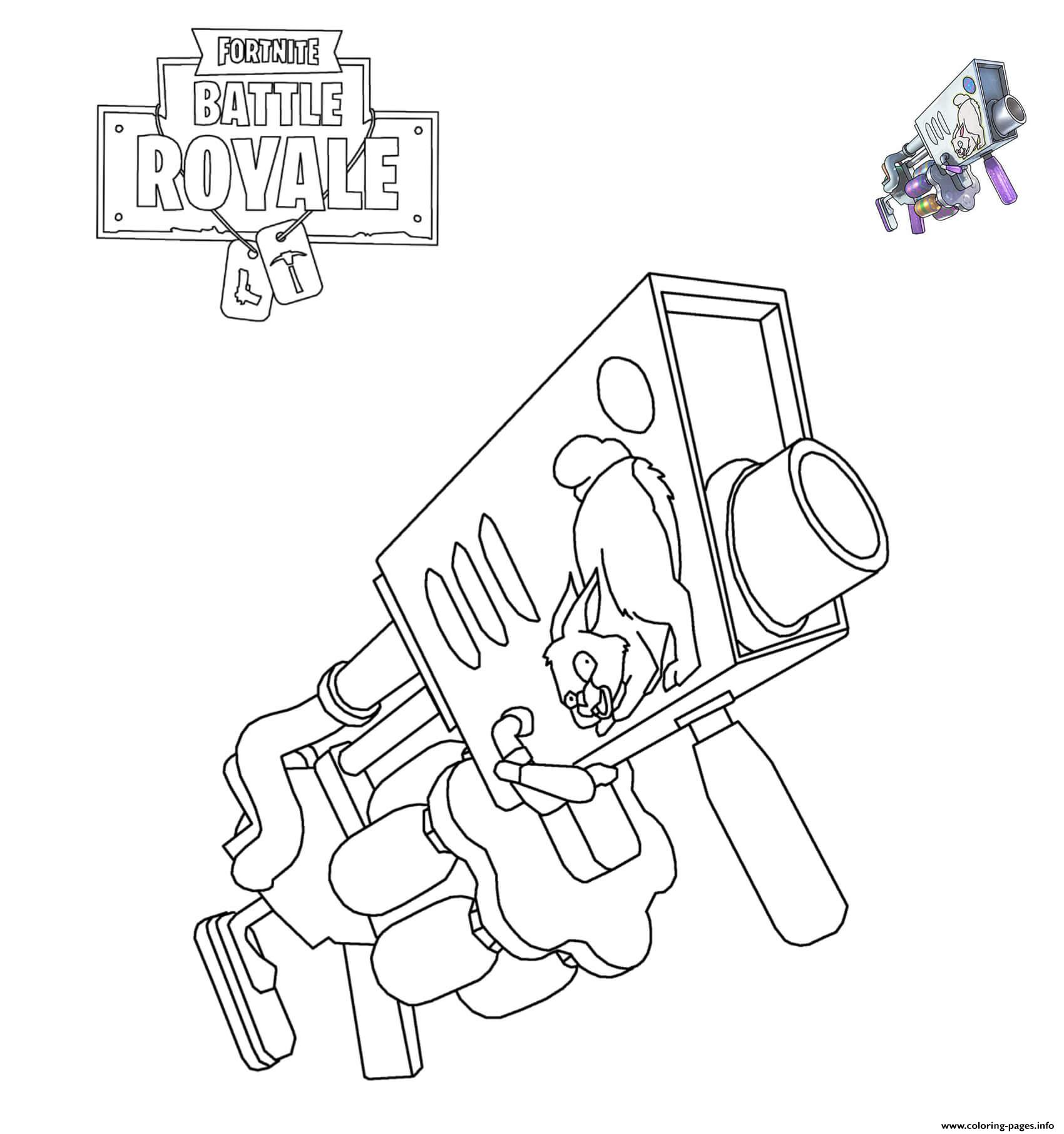 Fortnite Egg Launcher Coloring Pages Printable