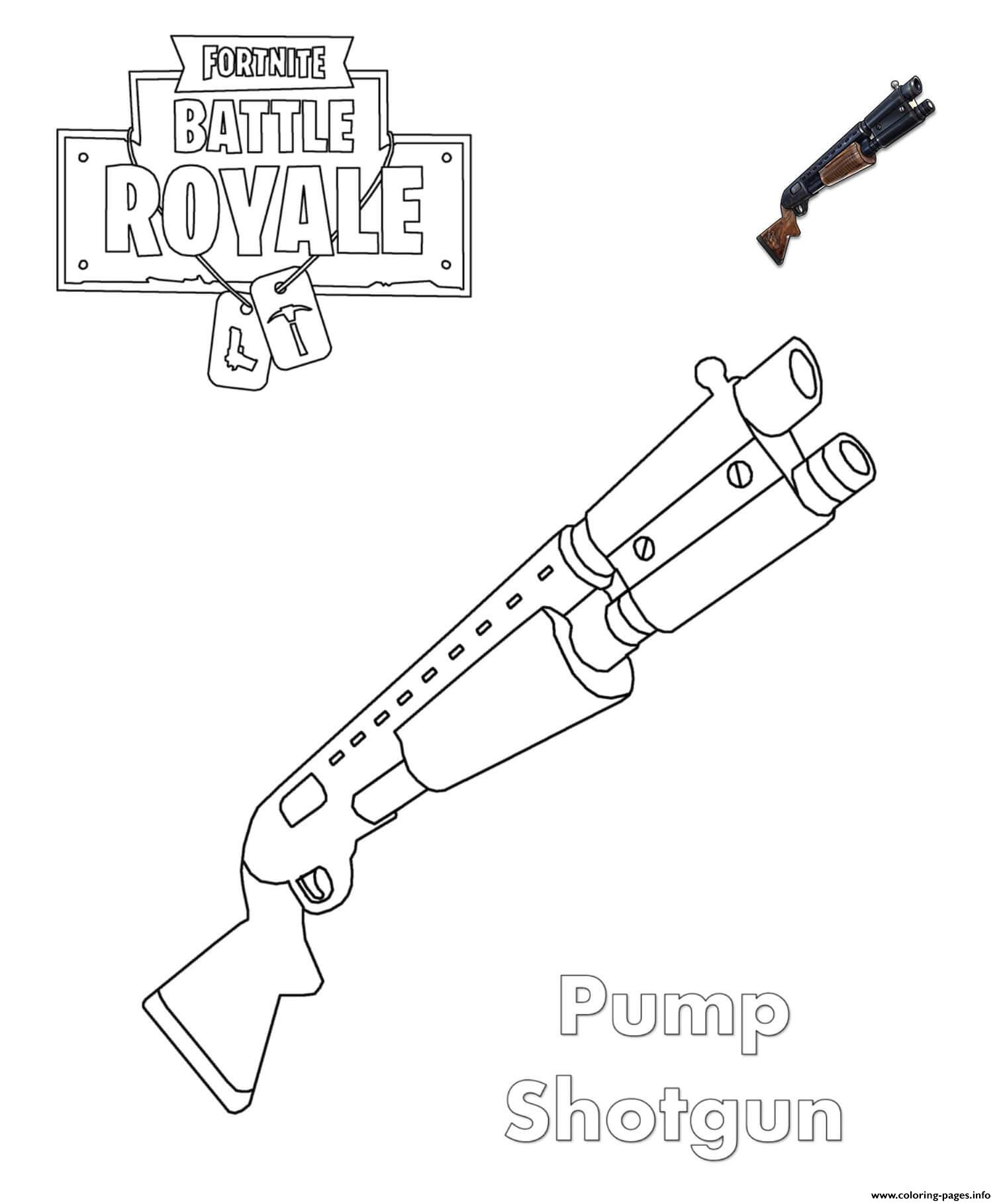 Shotgun Coloring Pages