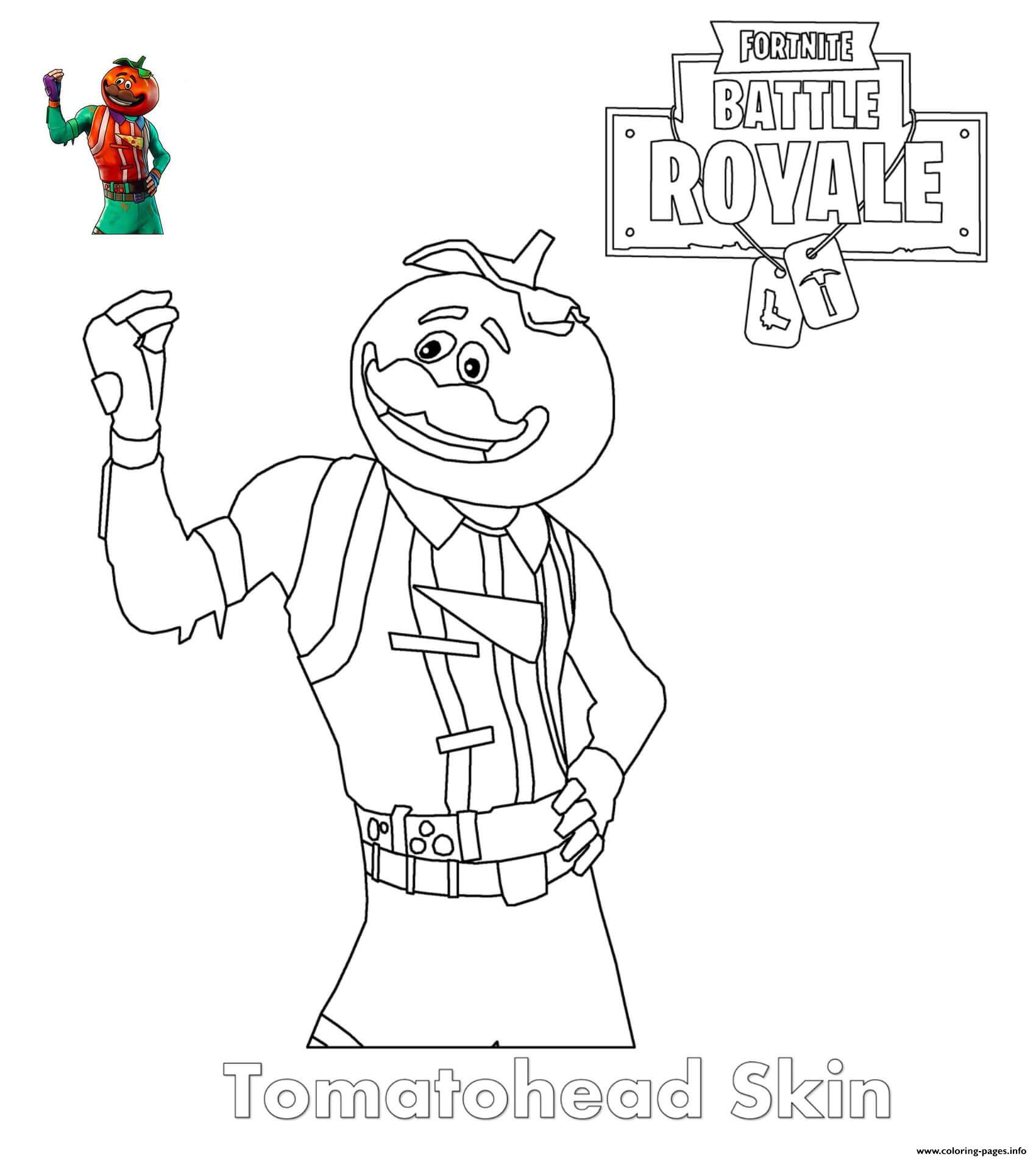 Tomatohead Skin Fortnite Coloring