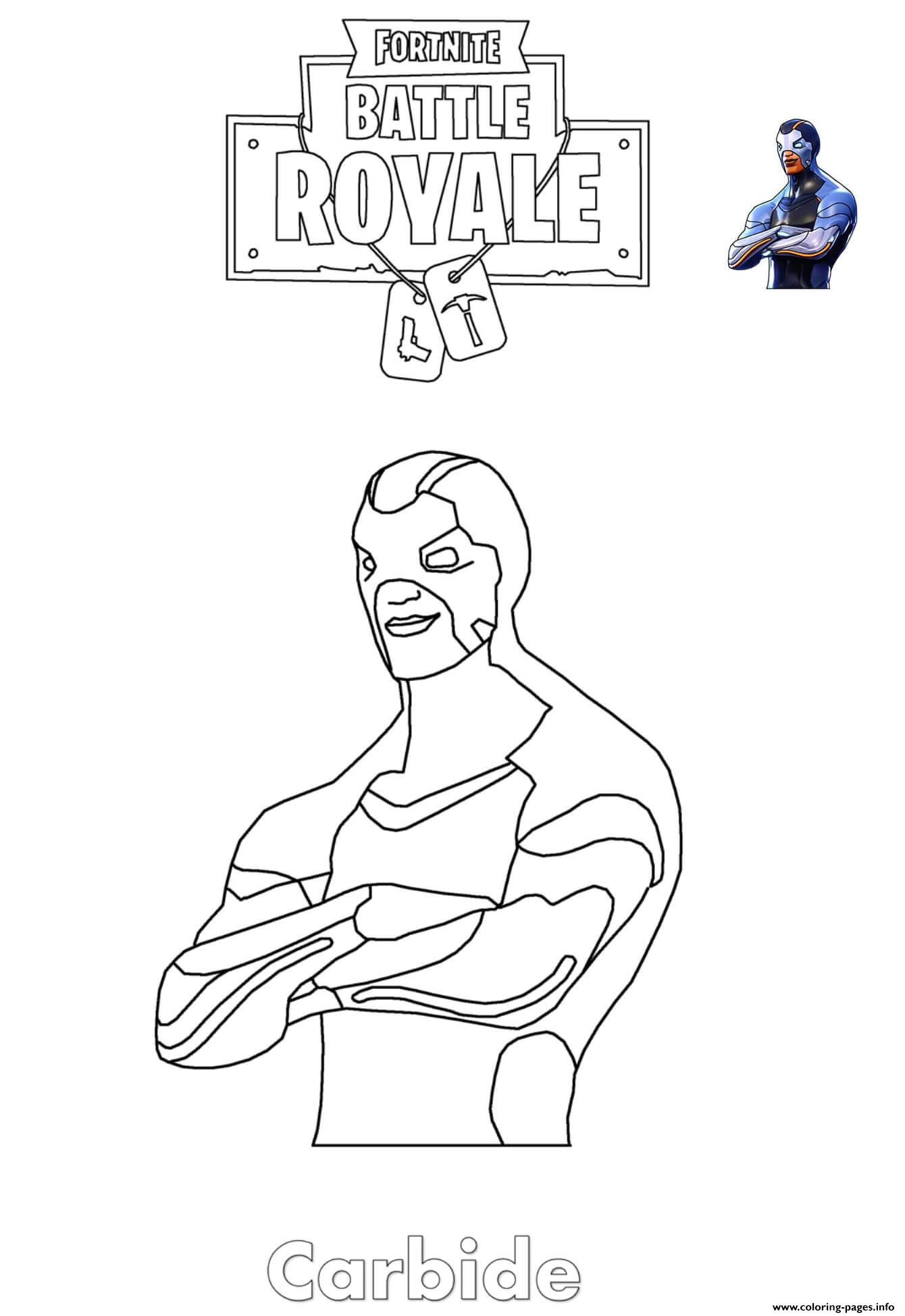 Carbide Fortnite Coloring Pages
