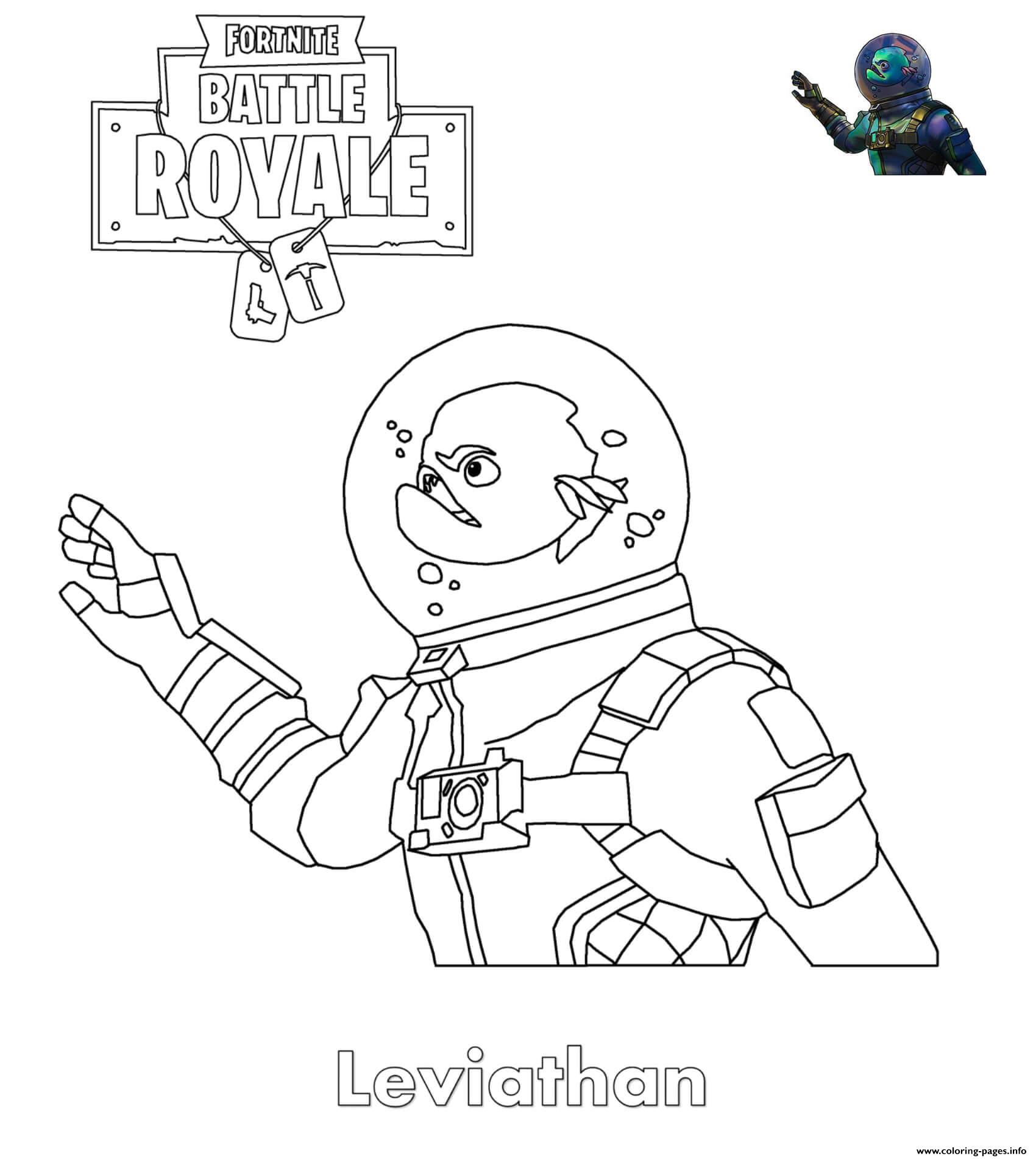 Fortnite Leviathan Skin Coloring Pages Printable