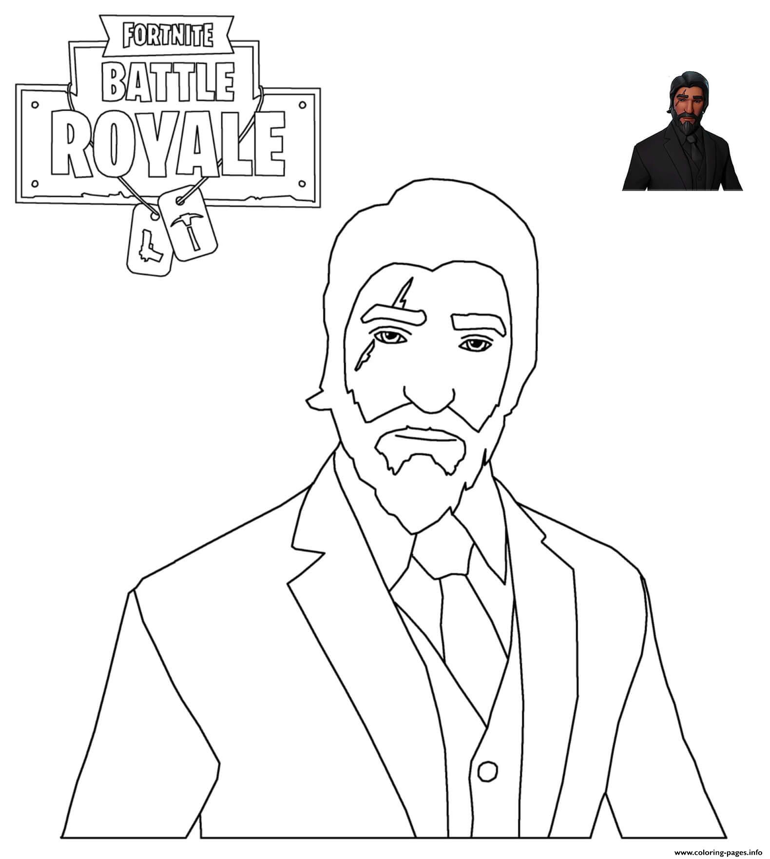 Reaper Skin Fortnite Coloring Pages Printable