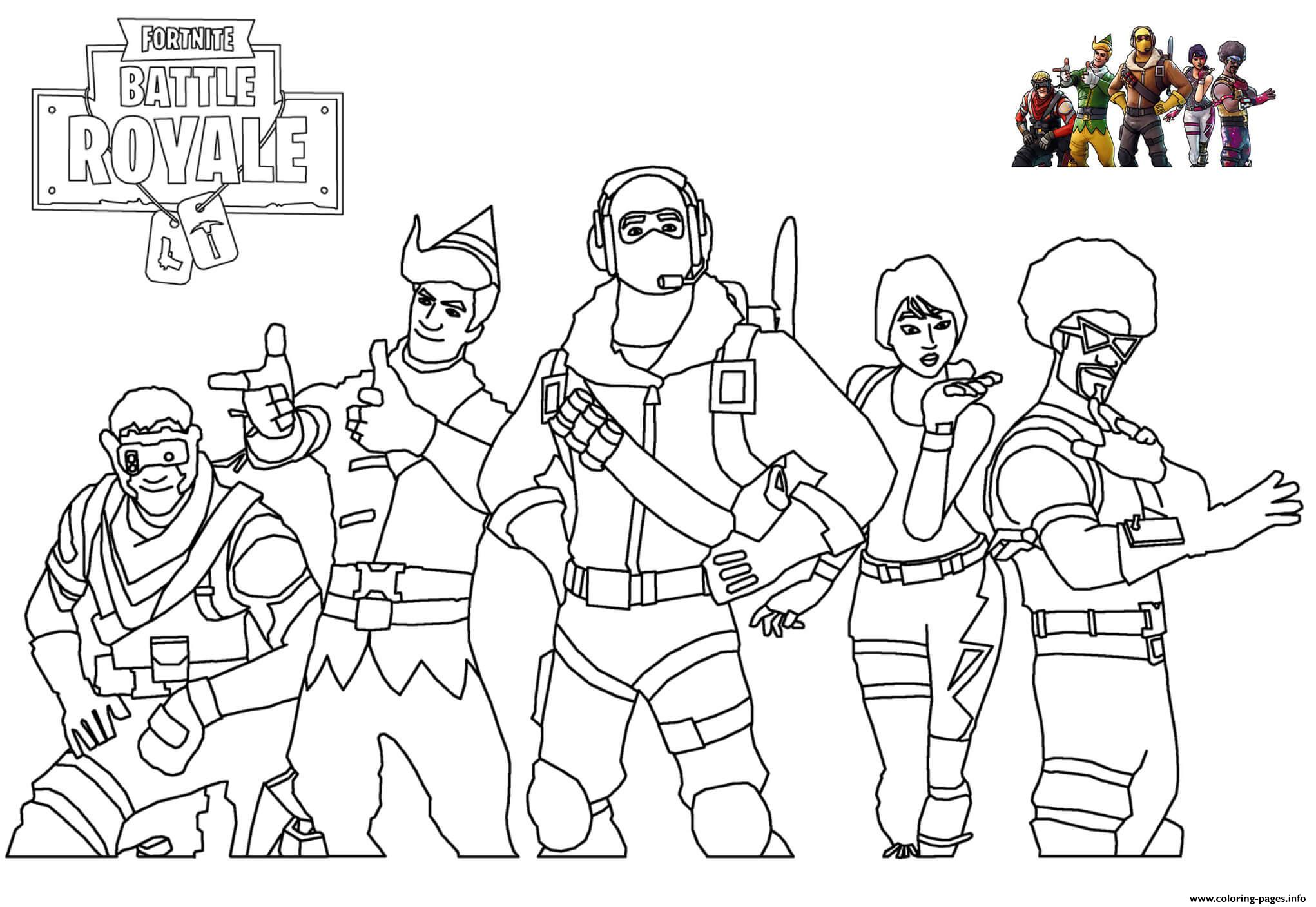 Skins Picture Fortnite Coloring Pages Printable
