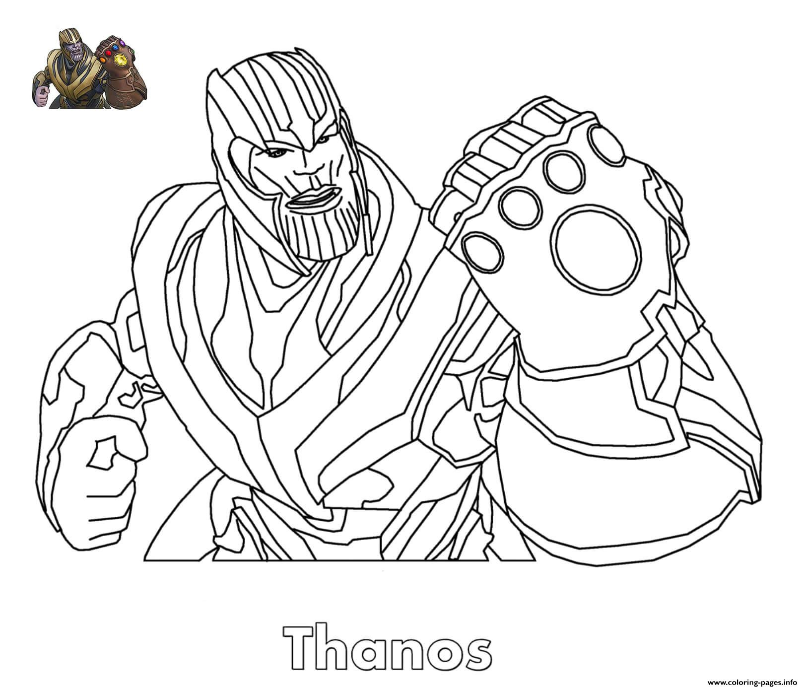 photograph relating to Free Printable Fortnite Coloring Pages referred to as Thanos Fortnite Coloring Internet pages Printable