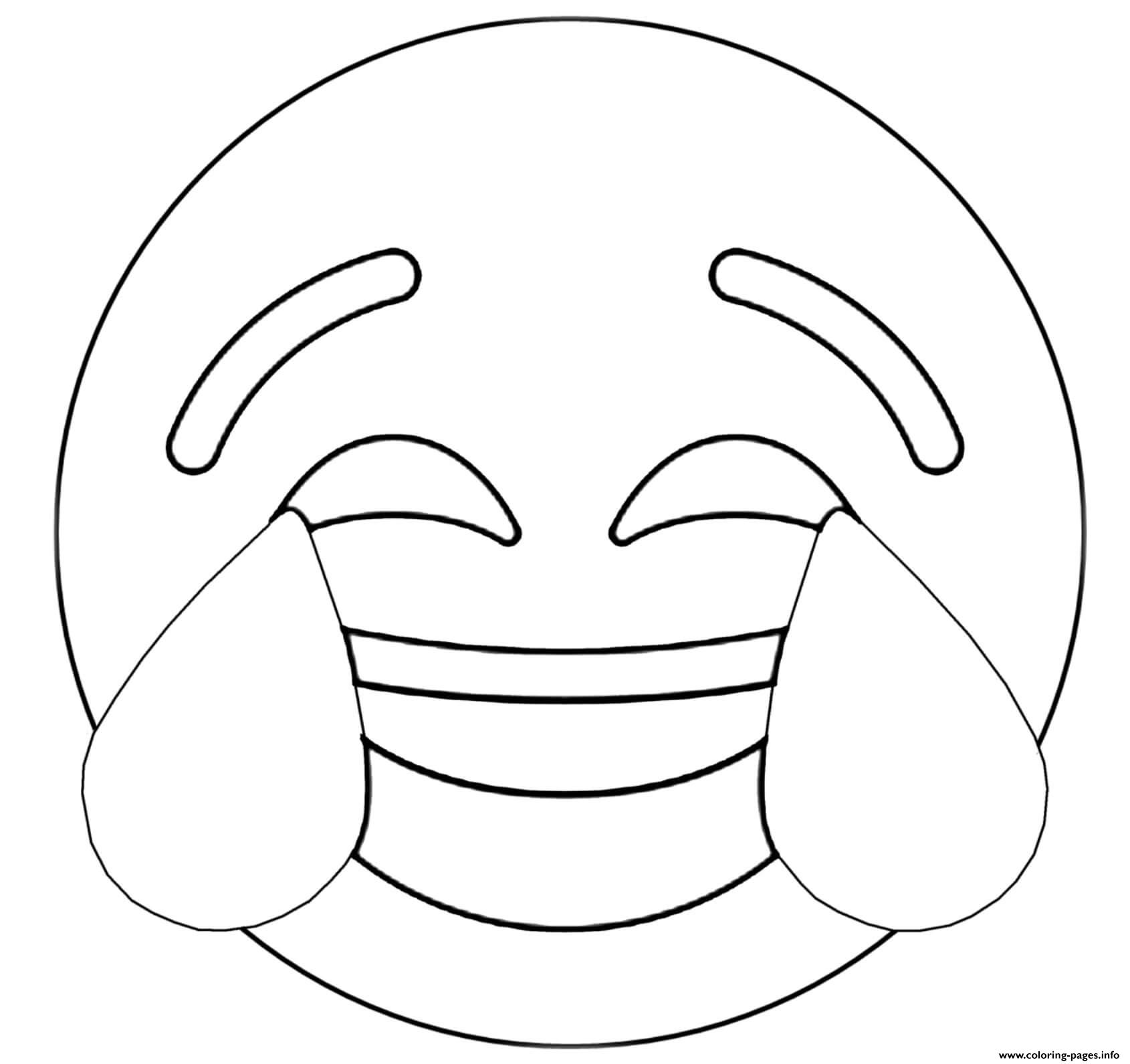 Twitter Crying Laughing Emoji coloring pages