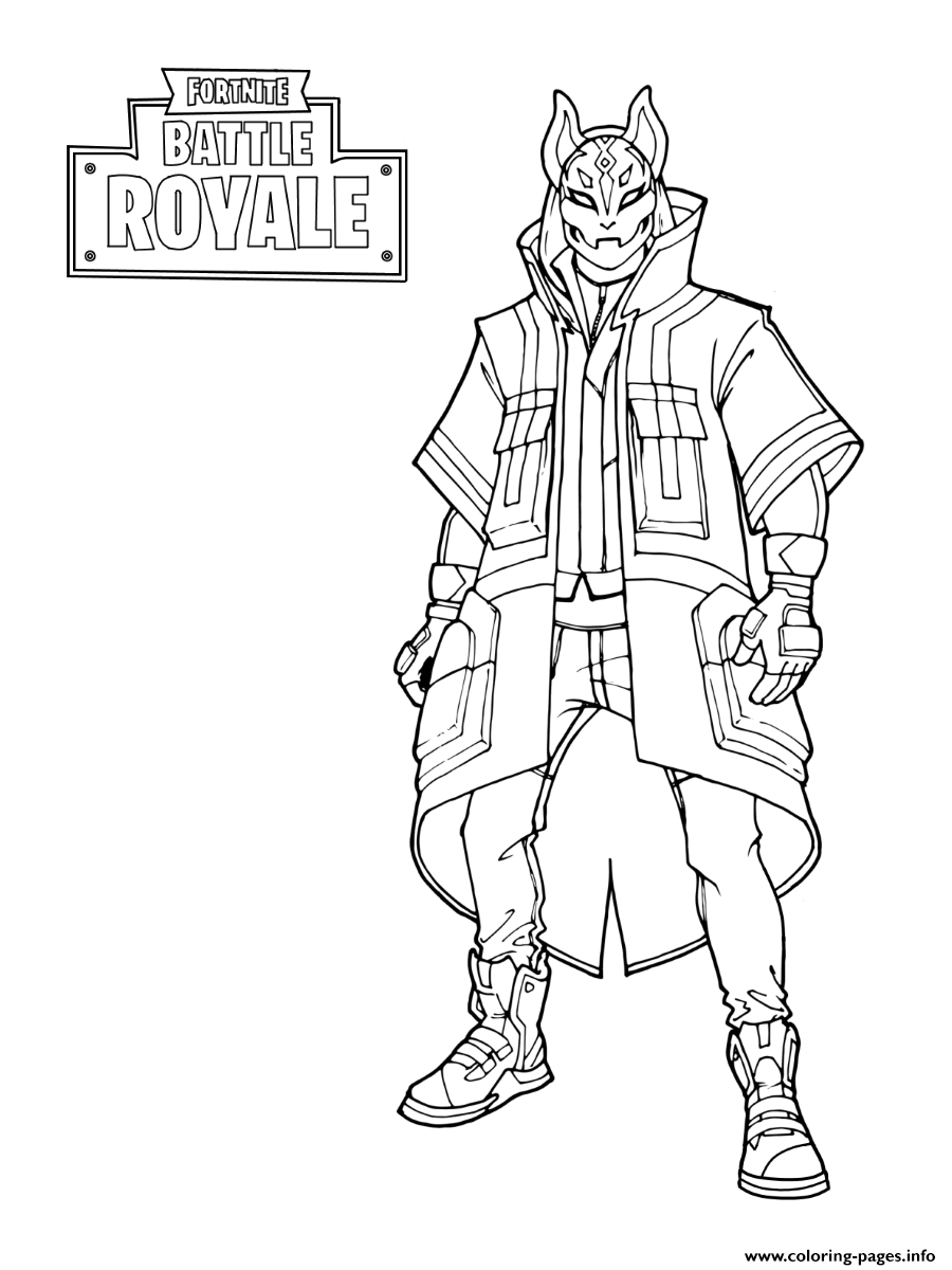 Fortnite Drift Stage 3 Coloring Pages Printable