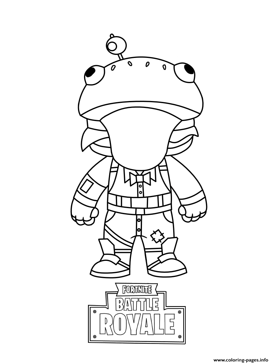 Fortnite Mini Frog Coloring Pages Printable
