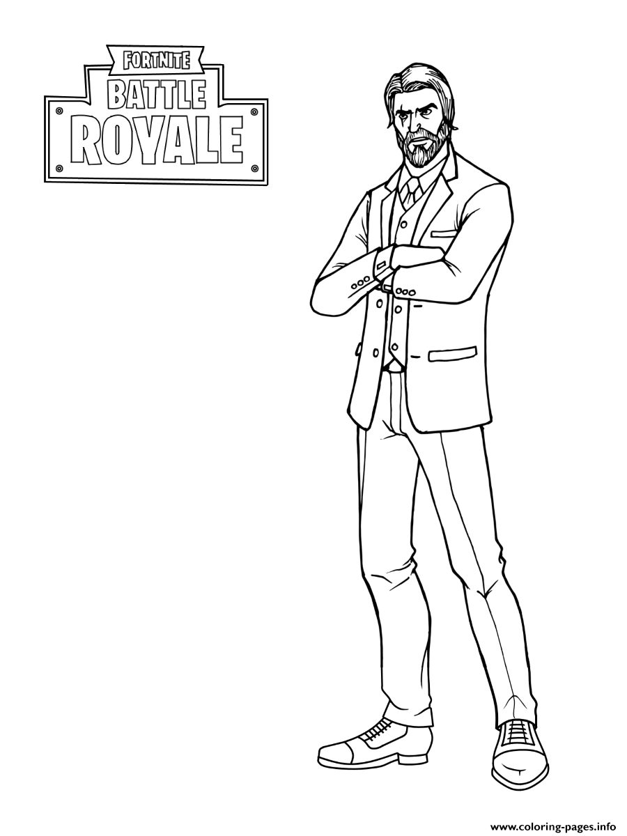 Fortnite The Reaper John Wick Coloring