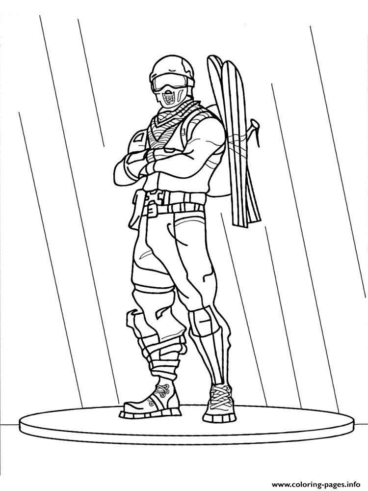 Free Fortnite Game Coloring Pages Printable