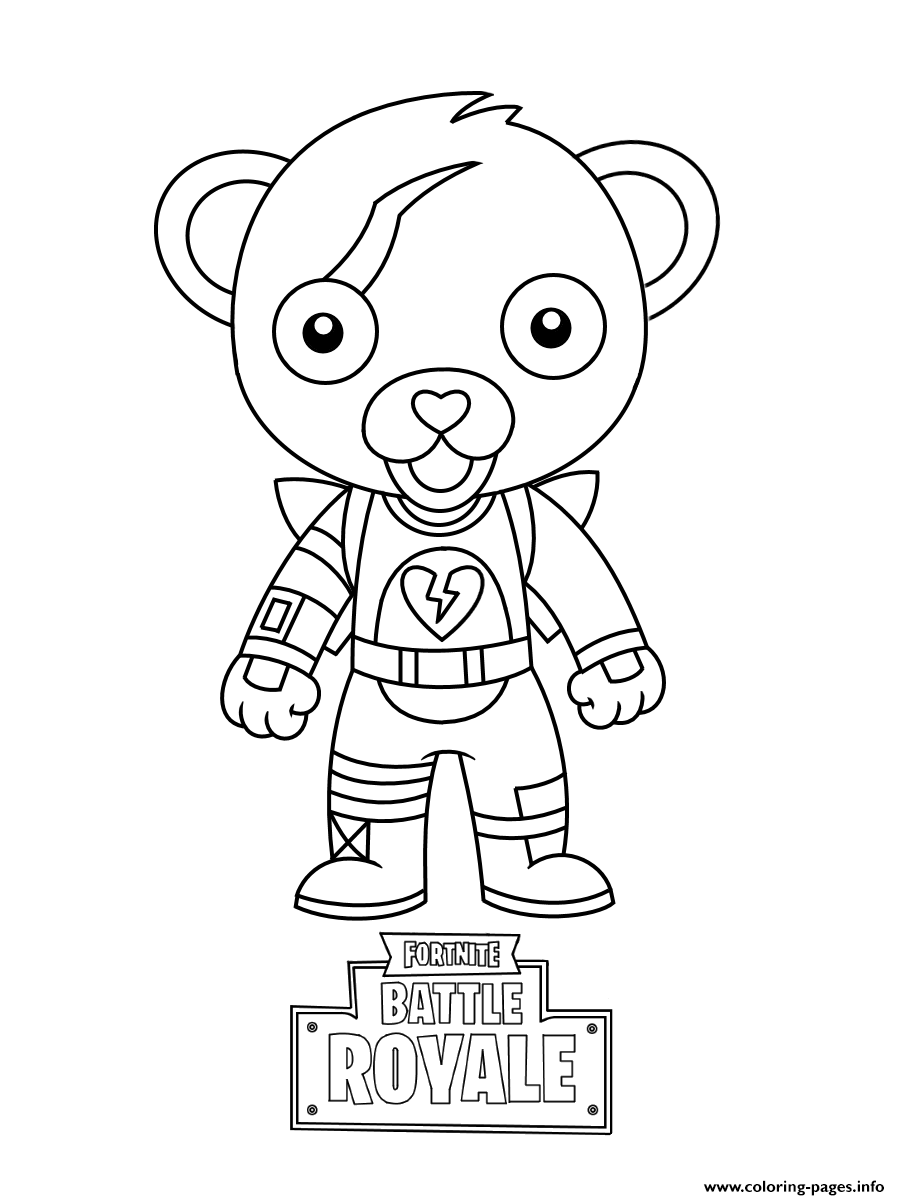 Cute Mini Cuddle Team Leader Fortnite Coloring Pages Printable