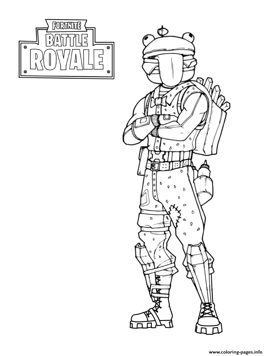 Fortnite Frog Skin Coloring Pages