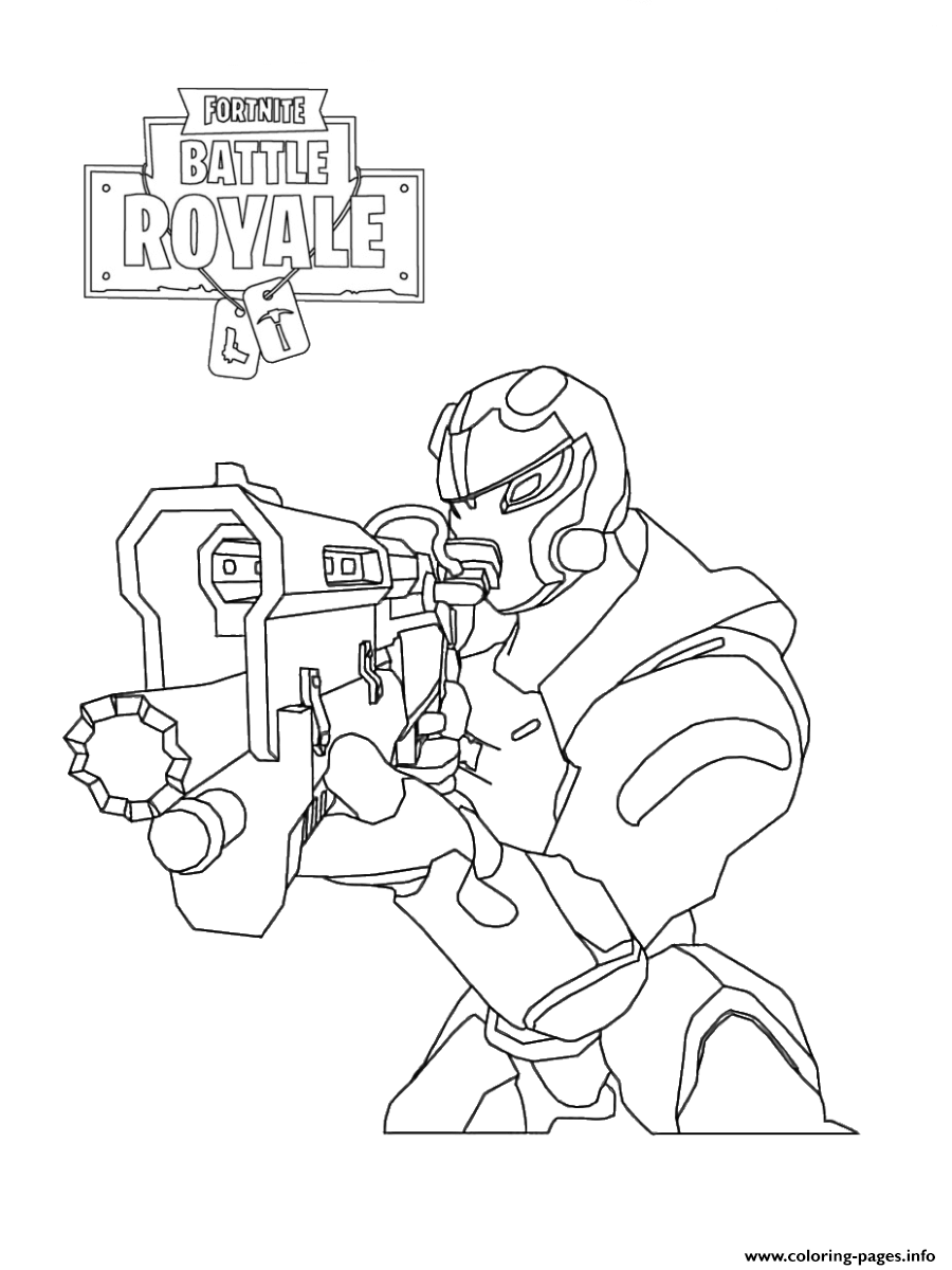 Fortnite Soldier Coloring Pages Printable
