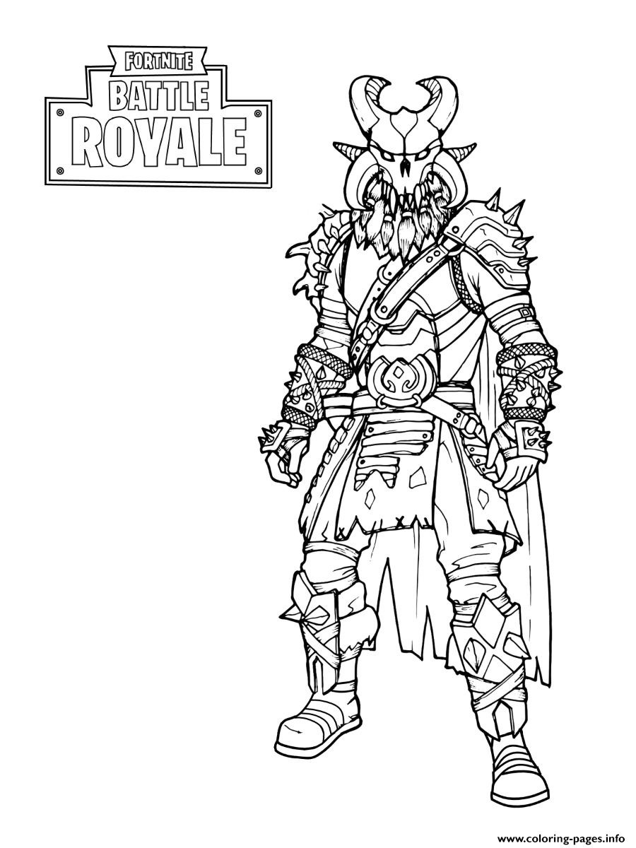 Fortnite The Dark Viking Coloring Pages Printable