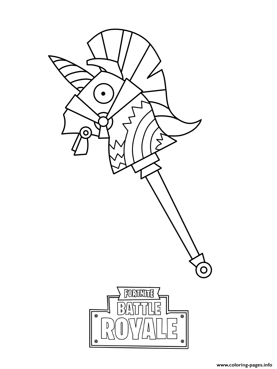Llama Fortnite Free Coloring Pages