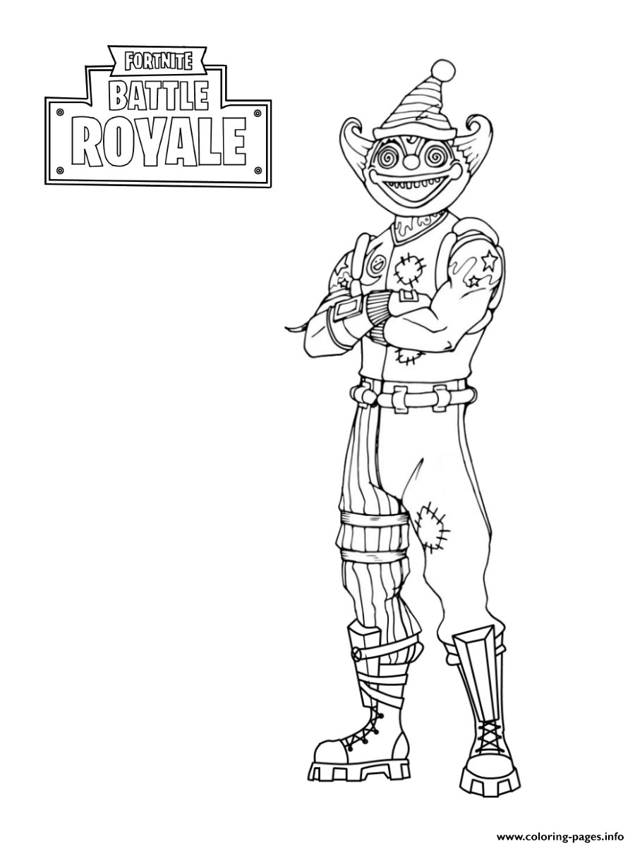 Fortnite Peekaboo Outfit coloring pages