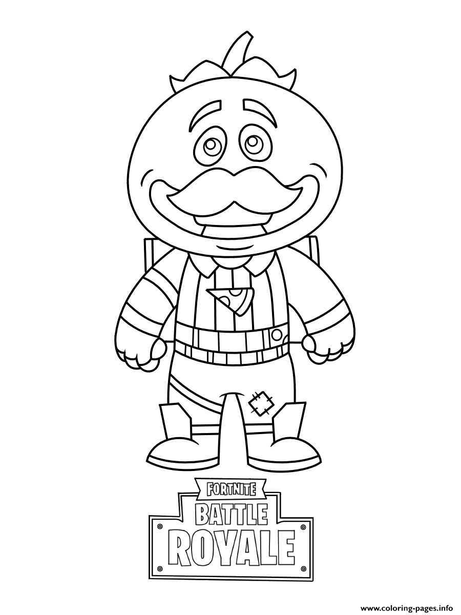 Mini Fortnite Tomatohead Coloring Pages Printable