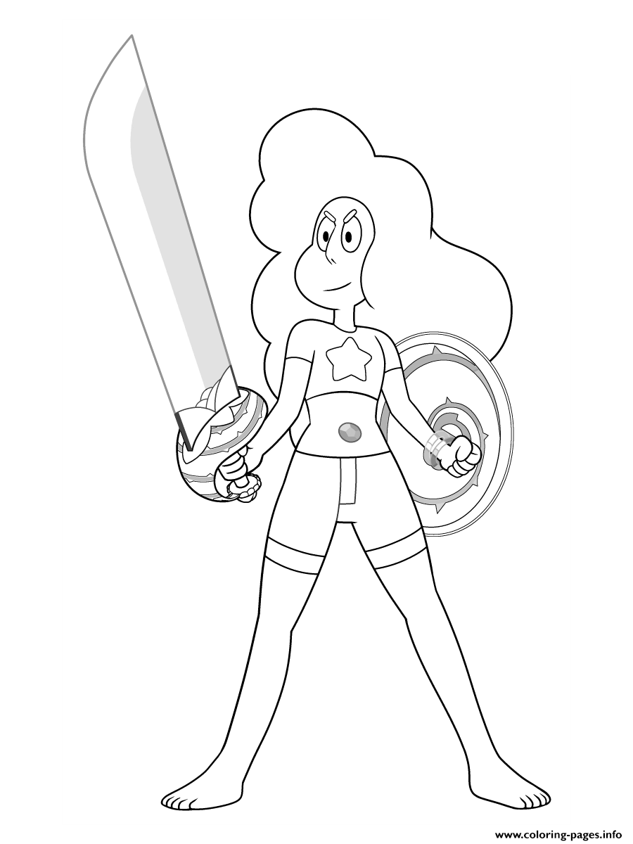 Stevonnie From Steven Universe Coloring Pages Printable