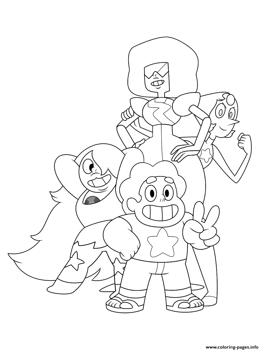 Chopkins Kleurplaat Steven Universe Garnet Pearl Coloring Pages Printable