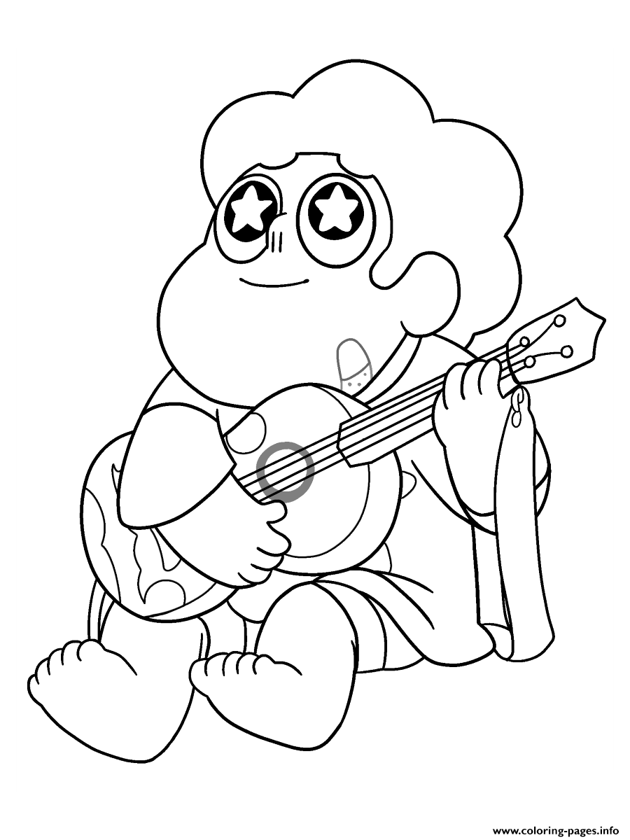 Steven Universe Guitar Music coloring pages