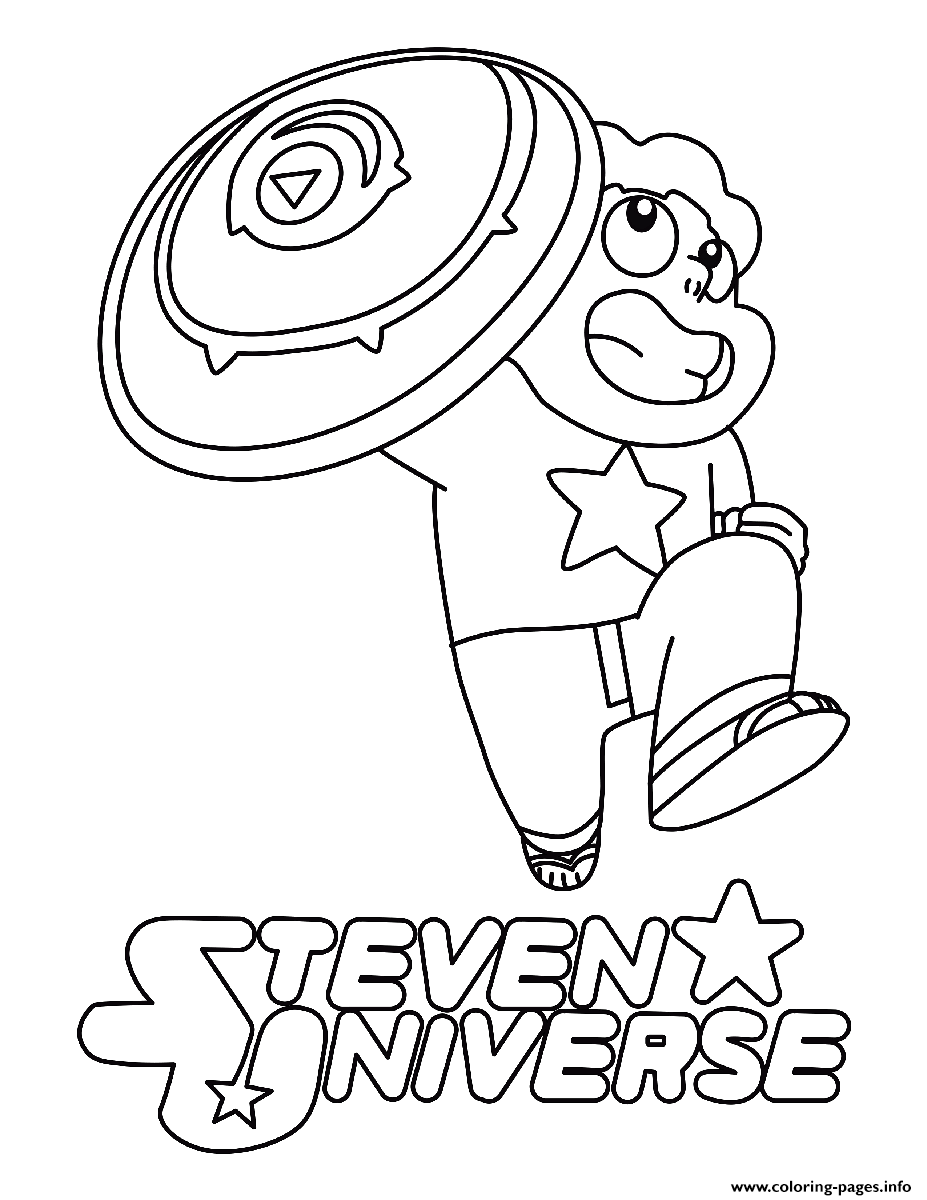 Steven Universe Shield Coloring Pages Printable