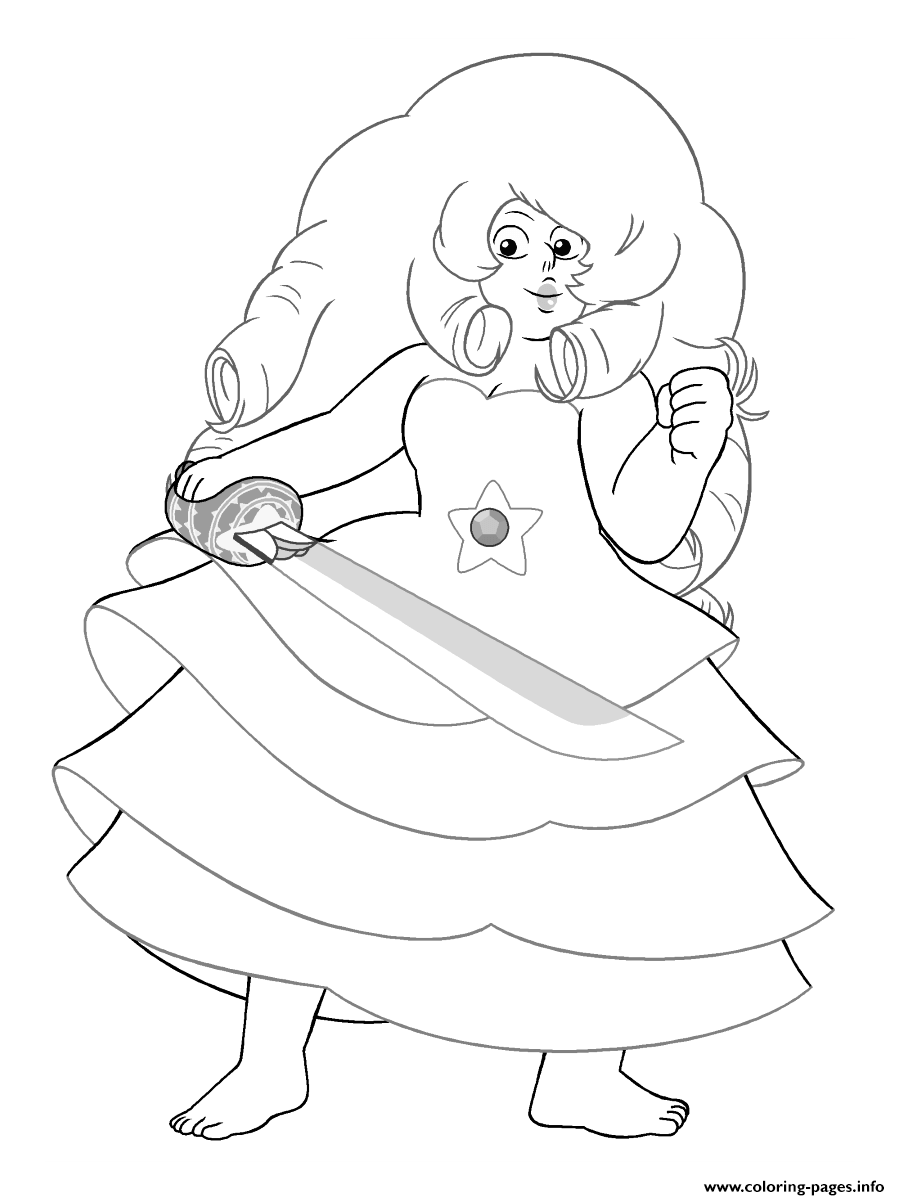 Rose Steven Universe Coloring Pages Printable