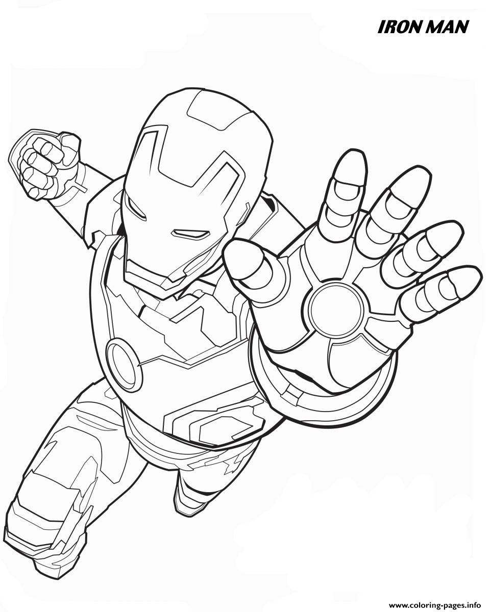 Iron Man From The Avengers Coloring Pages Printable