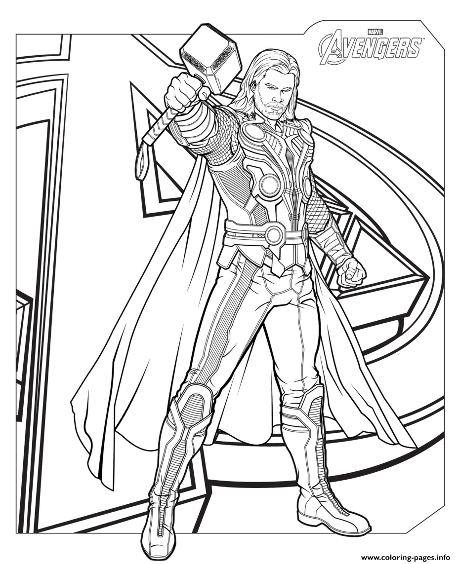 Marvel Avengers Thor Coloring Pages Printable