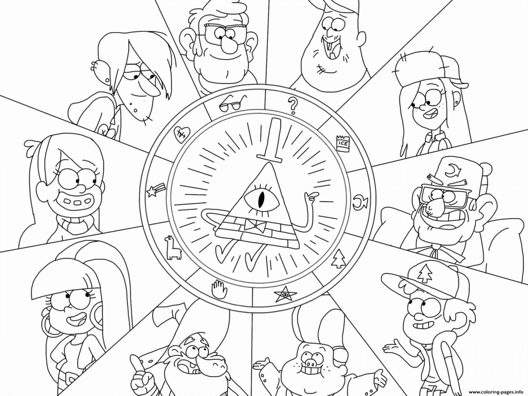 Timely Gravity Falls Coloring Pages Printable