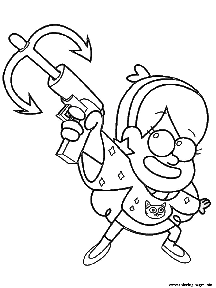 Gravity Falls Mabel With A Tool Coloring Pages Printable