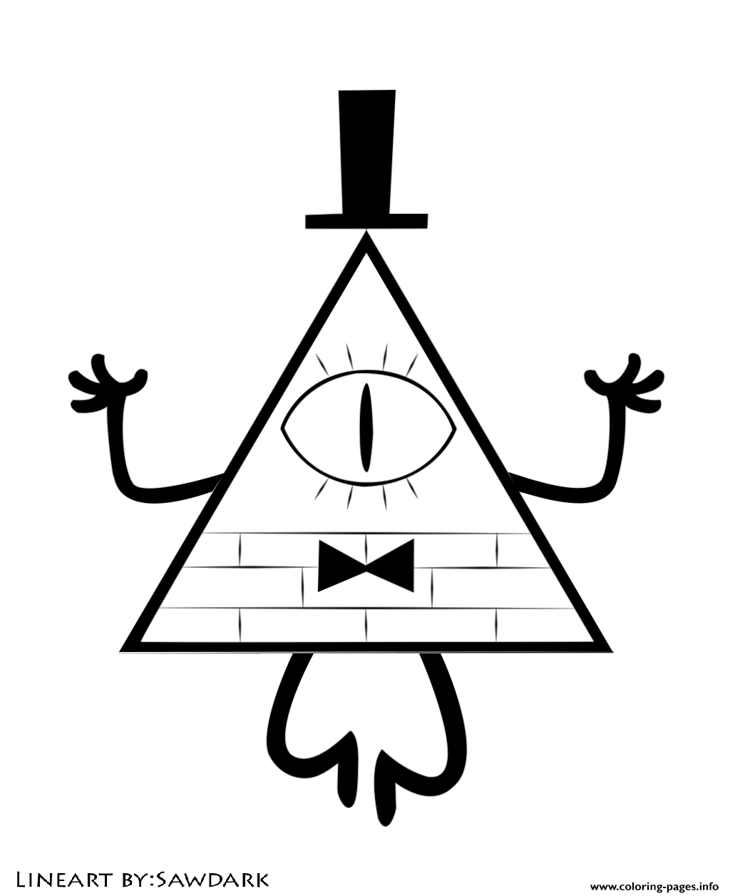 Gravity Falls Bill Cipher Coloring Pages Printable