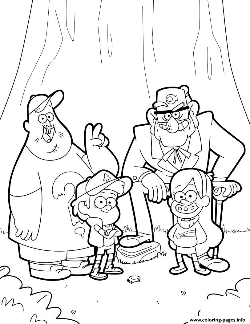 Largest Gravity Falls Coloring Pages Printable