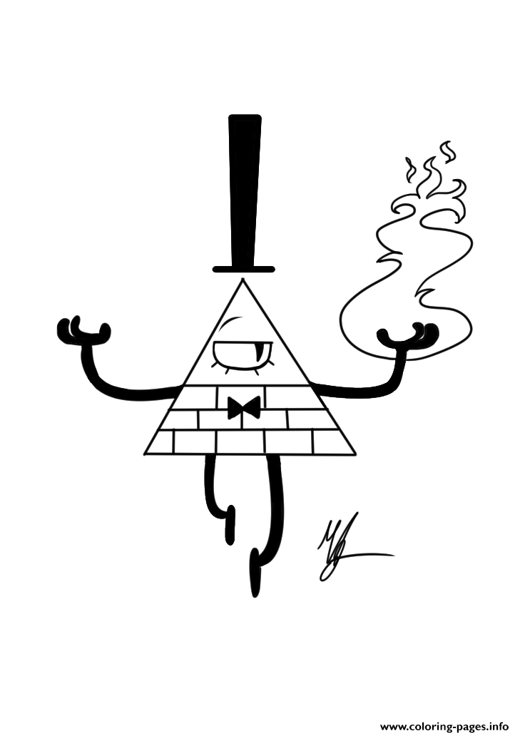 Gravity Falls Bill Cipher Fire