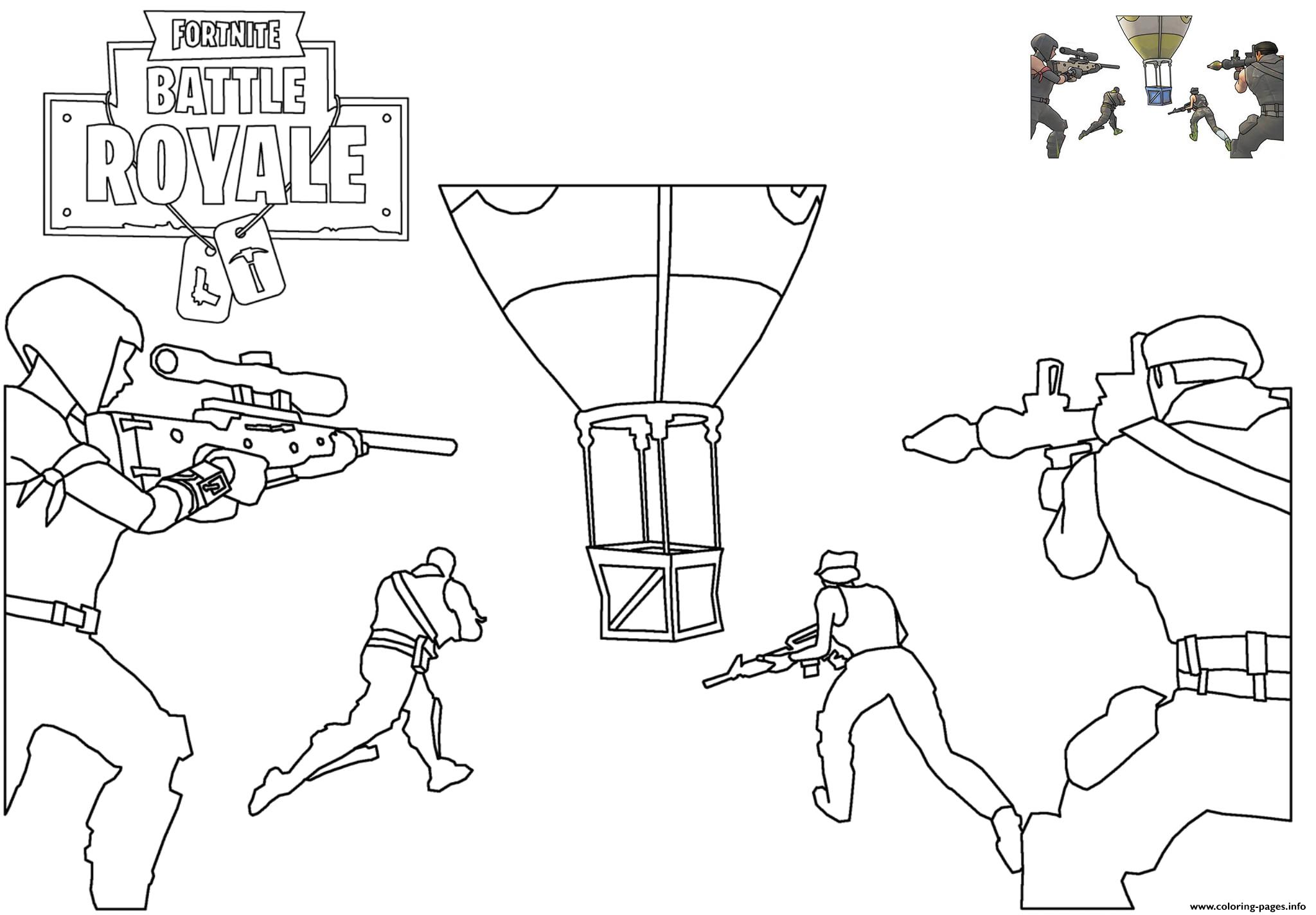 Supply Drop Fortnite Battle Royale Coloring Pages Printable