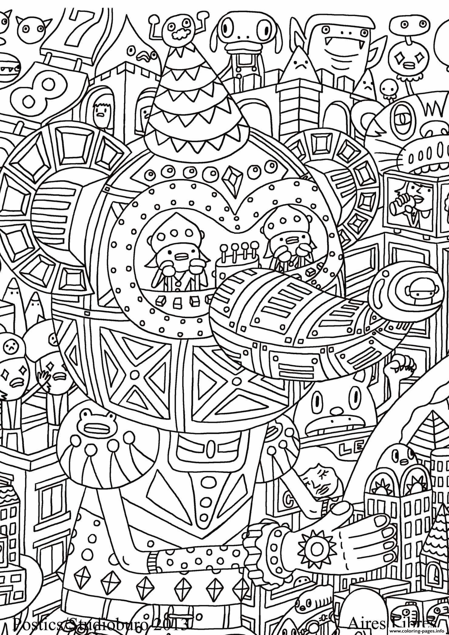 Anti Stress Adult Cultura Fantastique coloring pages