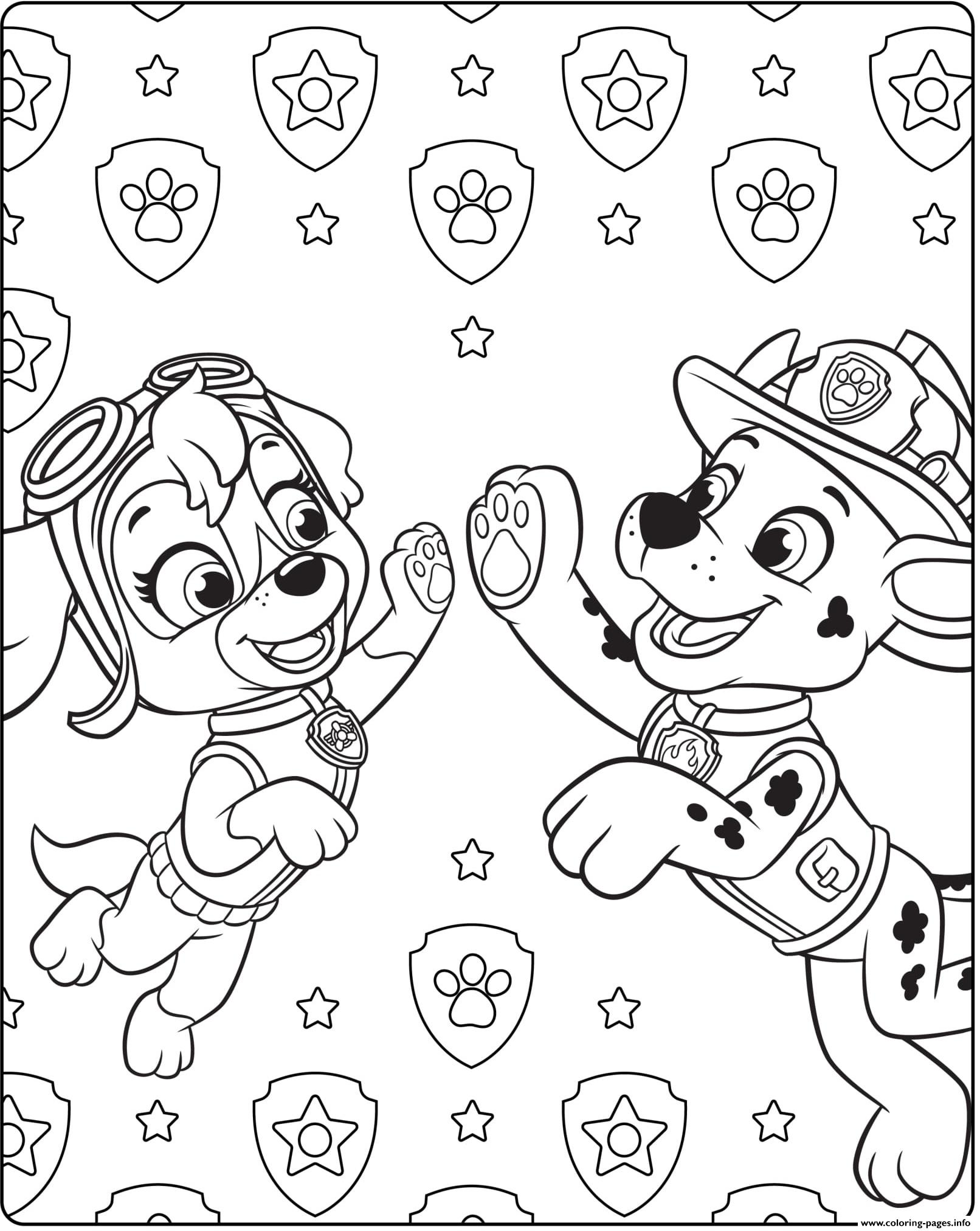 Paw Patrol Ultimate Rescue Skye Marshall coloring pages