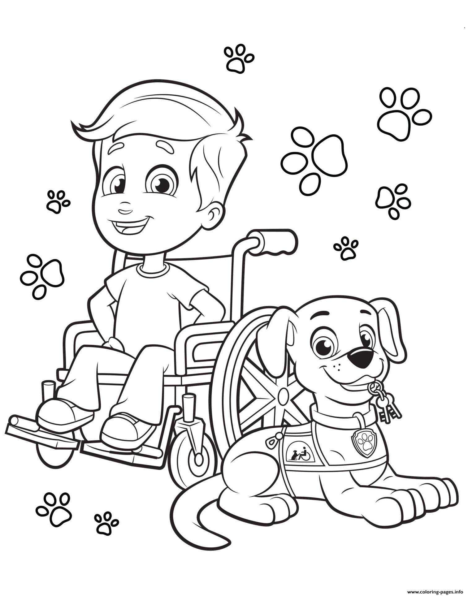 Canine Companions For Independence Dog And Kid Coloring