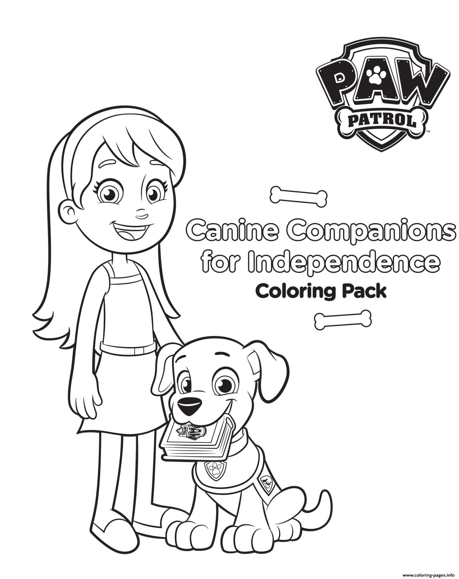 Canine Companions For Independence coloring pages