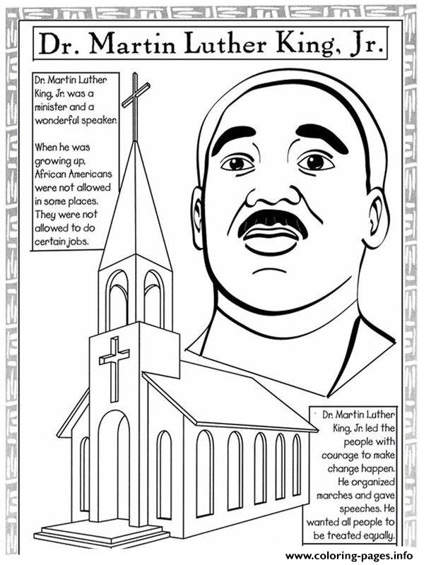Martin Luther King Day Wonderful Speaker Coloring Pages ...